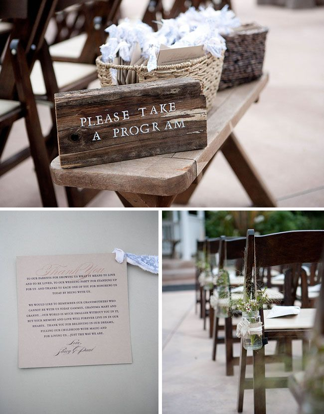"""Vintage outdoor wedding--Anthropology Inspired"" LOTS of great ideas in this Blog (<3 the signs)"