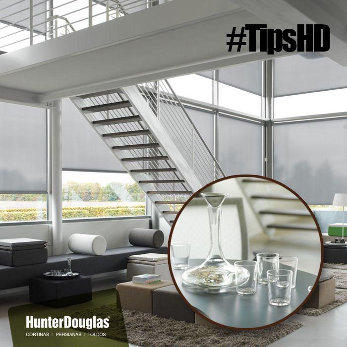#TipsHD Agregarle vidrio a tus entornos es una idea espectacular. El vidrio laminado realza los colores de tus espacios y le brinda una amplitud que ningún otro elemento daría. Superficies, escaparates o escaleras laminadas son perfectas para cuando quieres darle elegancia a cualquier lugar. #Casas #ProyectosHunterDouglas #Cortinas #persianas #Toldos #Tecnología #innovación #calidad #ProductosHunterDouglas #Estilo #Elegancia #Exclusividad #Residencial #Hogares #Hogar #HogaresHunterDouglas