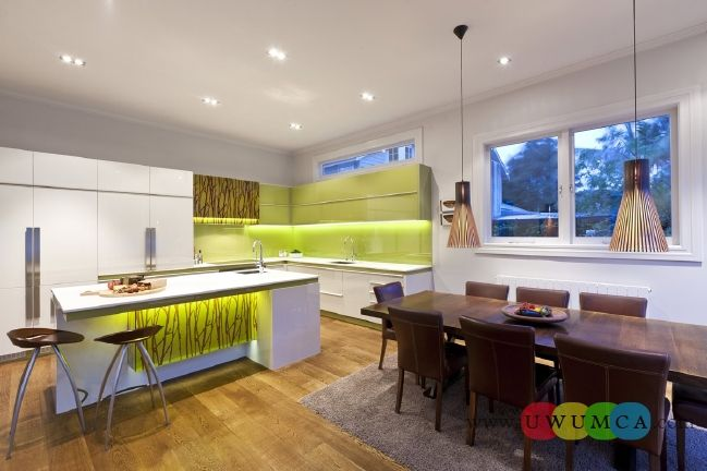 Kitchen:Green And White Modern Kitchen New Modern Kitchen Layout Styles And Interior Designs Colors Backsplash Countertops Island Remodels S...