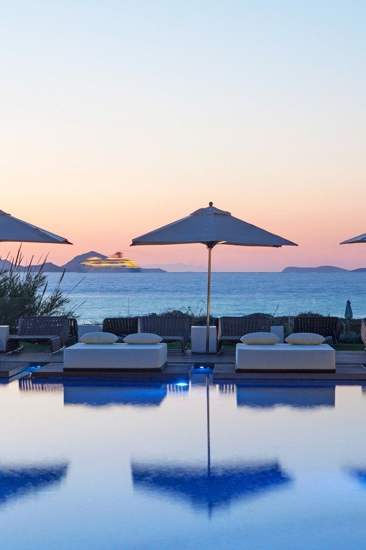Sip a cocktail and soak up endless sea views from the poolside bar. #Jetsetter