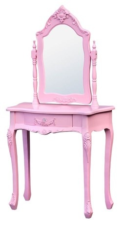 Every little girls dream dressing table. Candy Pink.   http://www.chicboutiqueinteriors.co.uk/store/p234-dressing-tables-/Candy-Pink-Dressing-Table-and-Mirror.cfm