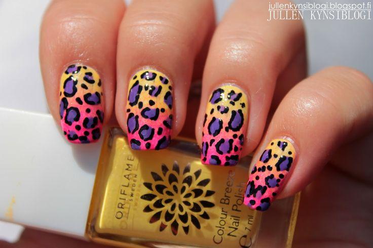 Jullen Kynsiblogi: leopard nails