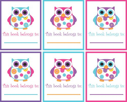 Summer OwlsClassroom Theme, Book Labels, Owls Book, Owls Theme, Book Plates, Owls Printables, Owls Freebies, Classroom Ideas, Owls Decor