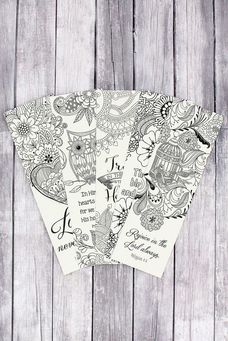 Free printable santa wish list coloring page tickled peach studio - Set Of 5 Creative Expressions Of Faith Coloring Bookmarks Clrb02