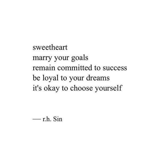 It's okay to choose yourself