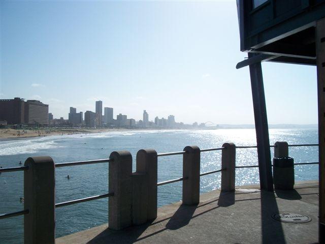 South Beach, Durban view of Addington Hospital