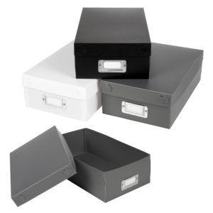 Black Cardboard Storage Boxes With Lids