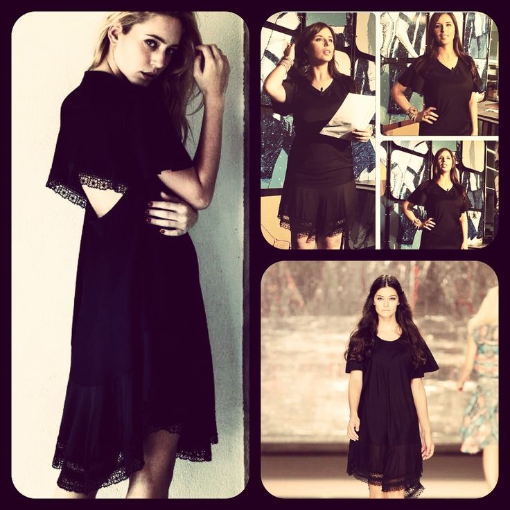 Ana Filipa Gomes wearing MEAM black dress