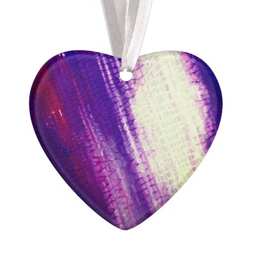 Acrylic heart : purple ornament