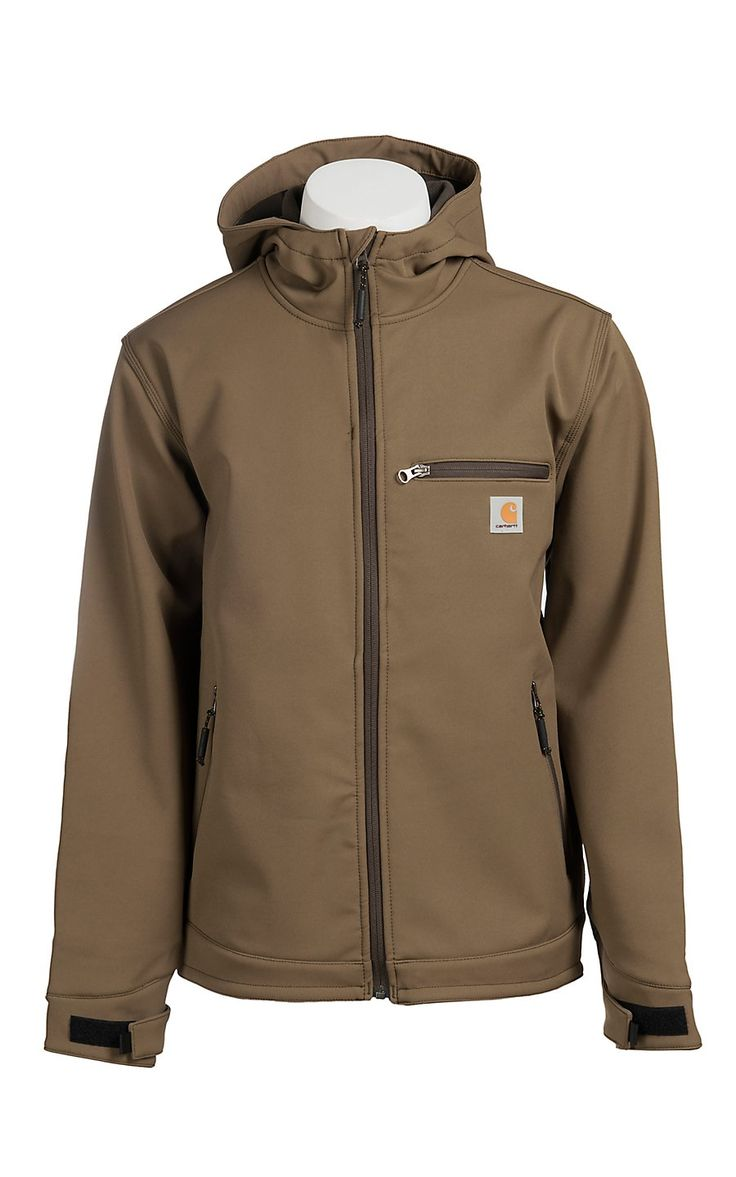 Carhartt Canyon Brown Hooded Bonded Jacket