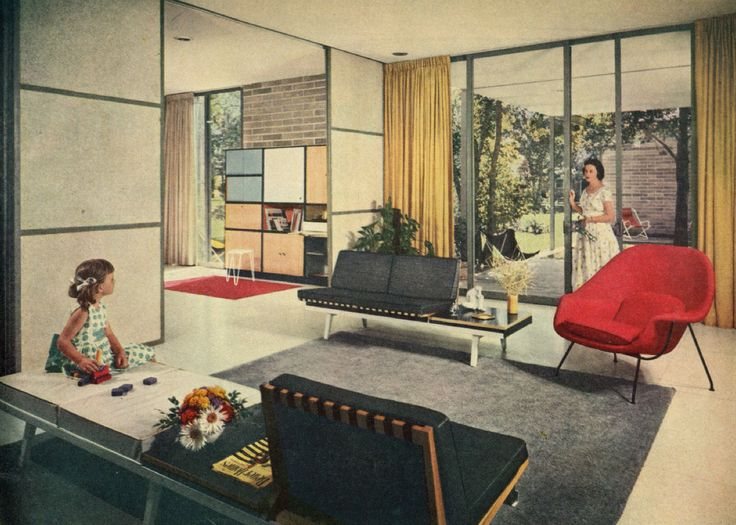 675 best images about living rooms on pinterest mid for Mid century modern architects houston