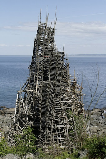 Lars Vilks towers on the coast of Sweden