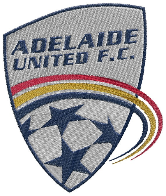 Football Adelaide United FC  machine embroidery by BiaForceDesigns, $3.85