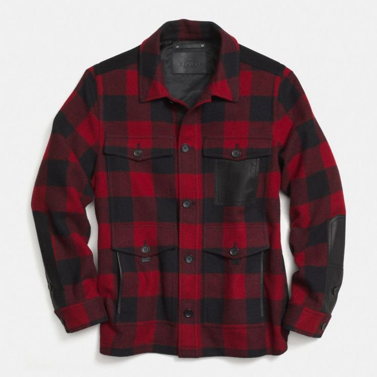 The Plaid Wool Shirt Jacket from Coach