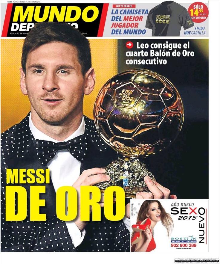 Titulares y Portada del 8 de Enero de 2013 del Periodico Mundo Deportivo ¿Que te parecio este día?