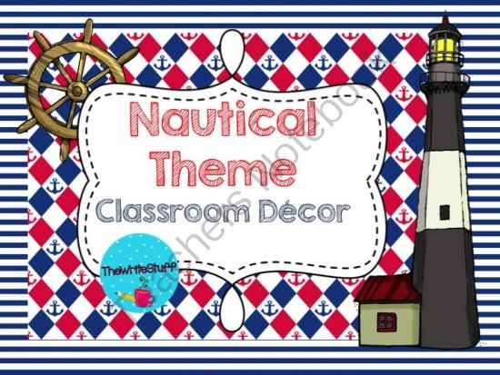 Classroom Decor Numbers ~ Nautical classroom decor from thewritestuff on