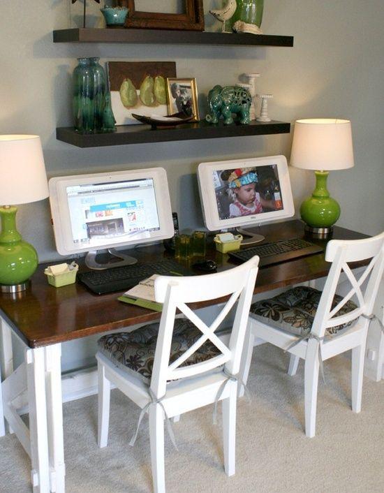 custom computer desk  Master Bedroom  Pinterest