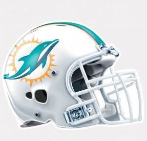 "NFL Miami Dolphins 4""x4"" Perfect Cut Helmet Decal"