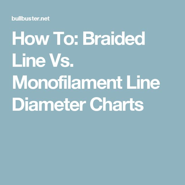 How To Braided Line Vs Monofilament Line Diameter Charts Braided Line Braids Line