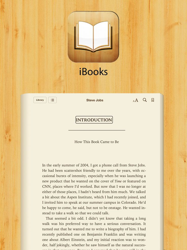 how to read books on ibooks