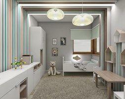 Pokoje dziecięce - Średni pokój dziecka dla chłopca dla dziewczynki dla malucha, styl skandynawski - zdjęcie od BAGUA Pracownia Architektury Wnętrz