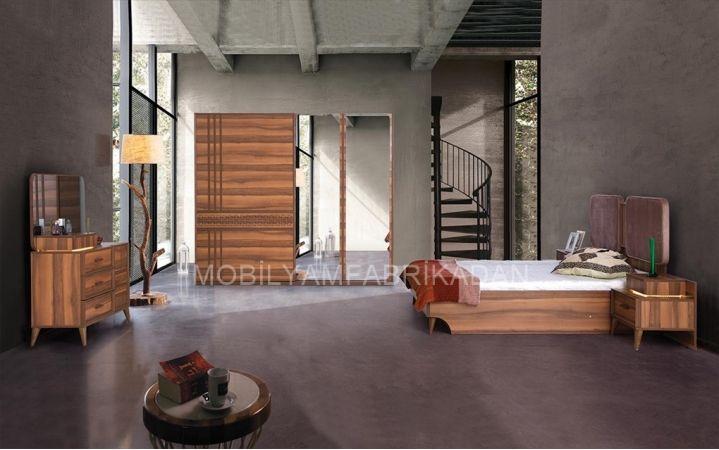 Cevizin asil duruşu olan takımımız  yatak odasında cevzin şıklığını isteyenler için üretildi. #mobilya #inegöl #yatak #oda #modern #tasarım