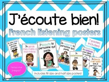 French Listening Posters