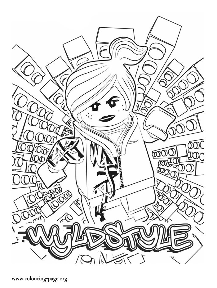 how about coloring this beautiful picture of wyldstyle she is a minifigure of lego