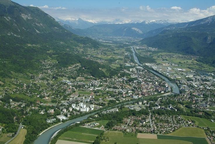 Bonneville au coeur de la vallée de l'Arve