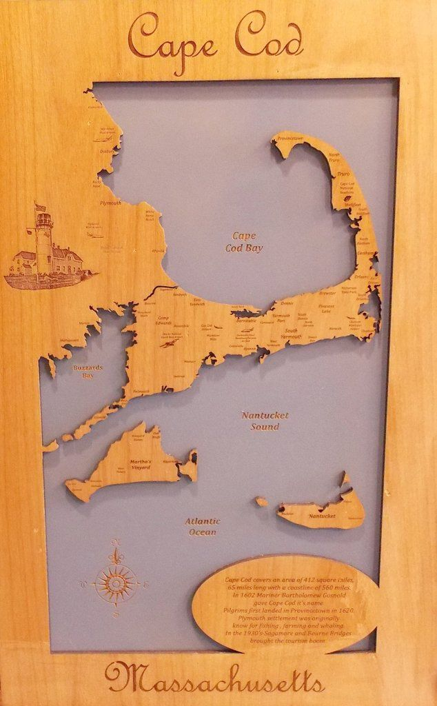 Maryland Map Coordinates%0A Cape Cod  Massachusetts  Wood Laser Cut Map