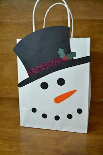 Snowman gift bag using cricut 2013