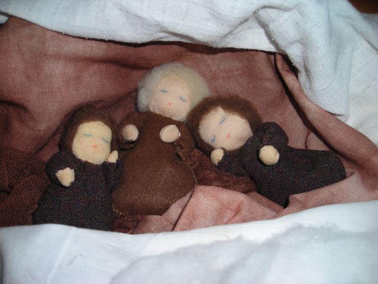 spící kořekové děti