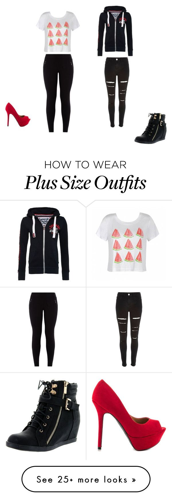 """""""Tithe watermelon vine"""" by alyssa2004-1 on Polyvore featuring Ally Fashion, Superdry, Qupid, River Island and Top Moda"""