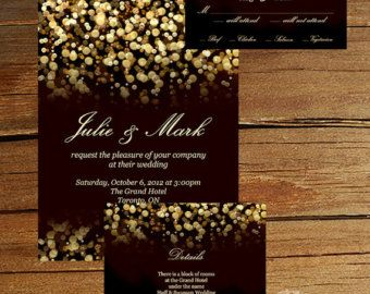 Gold Glitter Gatsby Wedding Invitation #elegantstyle