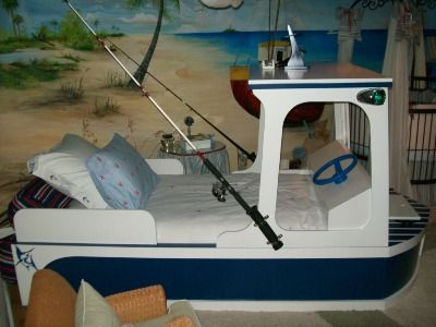 Fishing boat bed. What kid wouldn't love this? www.interiordesignedenvironments.com