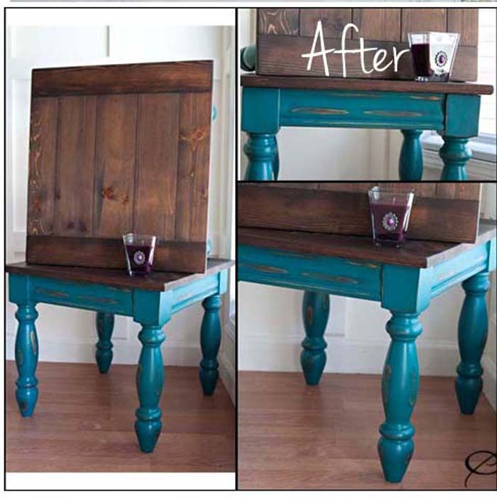 Teal Twins End Tables Revival
