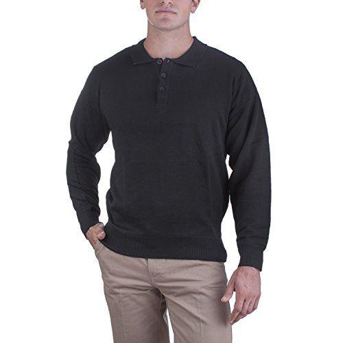 Alberto Cardinali Men's Solid Color Three-Button Sweater - http://www.darrenblogs.com/2017/01/alberto-cardinali-mens-solid-color-three-button-sweater/