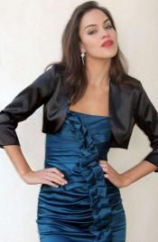 Satiny Black Bolero