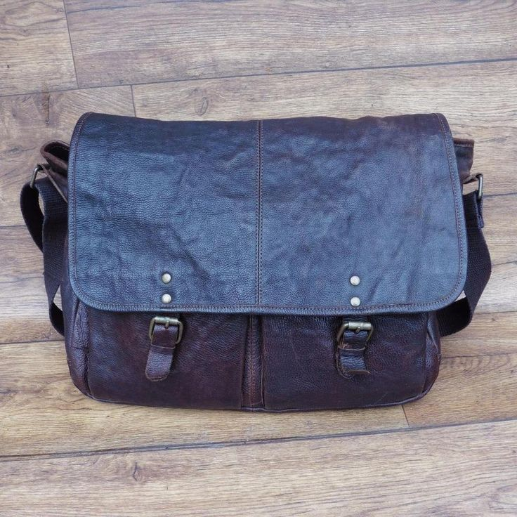 NATURAL BROWN LEATHER MESSENGER FLAPOVER CROSS BODY MAN BAG MARKS & SPENCER M&S
