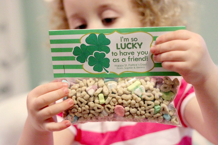This is cute...I always let the kids eat lucky charms on St. Patrick's Day.