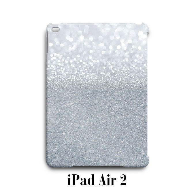 Grey Sparkle Glitter iPad Air 2 Case Cover Wrap Around