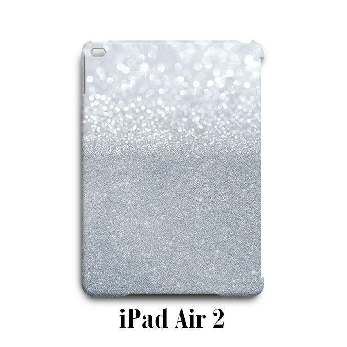 Grey Sparkle Glitter iPad Air 2 Case Cover Wrap Around