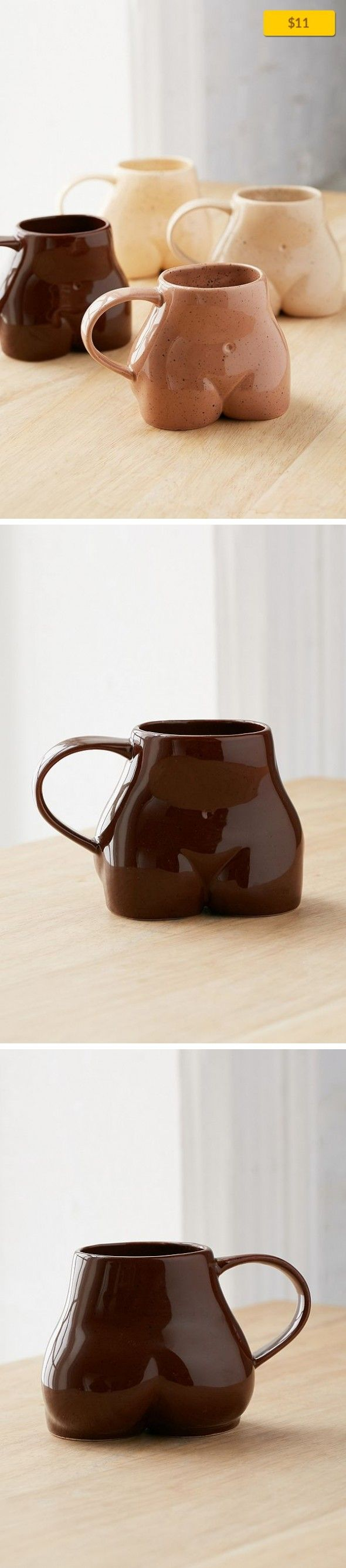 Female Form Mug Apartment, Kitchen + Bar   Speckled ceramic mug in a sculpted silhouette - collect one or more for a cheeky set! Not microwave or dishwasher safe; hand wash only. Content + Care - Ceramic - Hand wash - Imported Size - Capacity: 12 fl oz