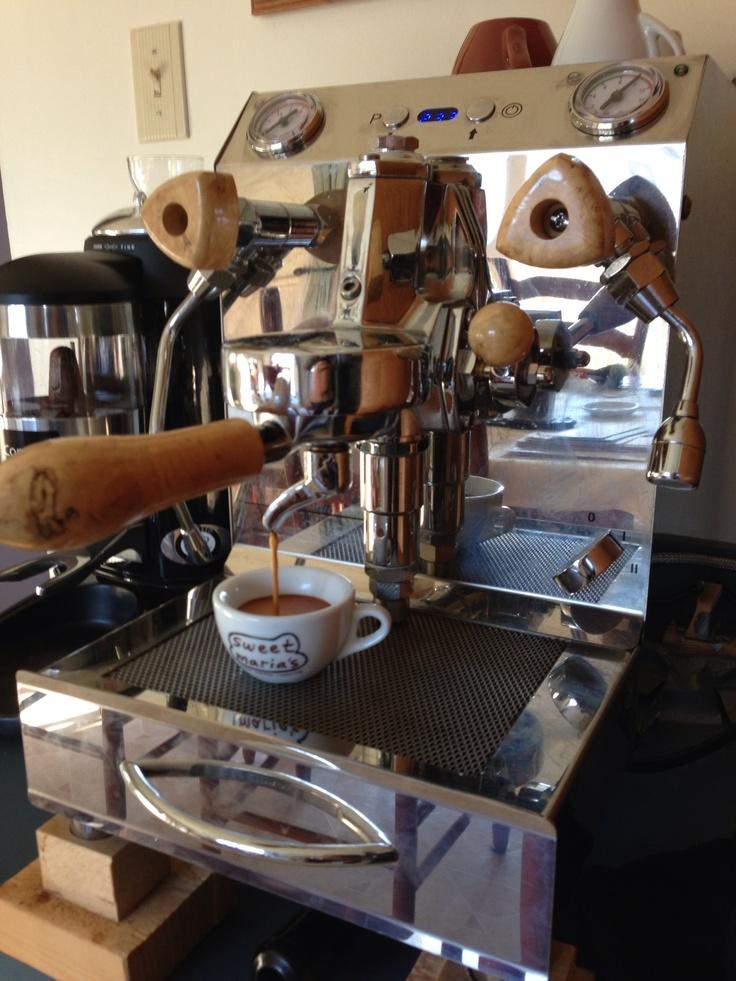 Vibiemme Double Domobar espresso machine.  Sign up for our next Espresso Machine Giveaway contest: http://www.espressooutlet.net/contests/