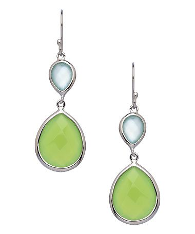 Seraphina Faceted Chalcedony Double Drop Earrings #maxandchloe