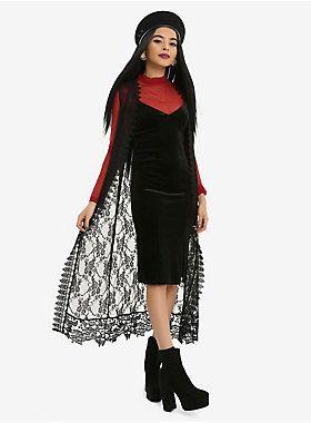 NEED // Black Lace Sleeveless Duster