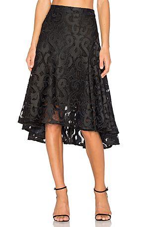 THURLEY Baroque Beauty Skirt en Negro | REVOLVE
