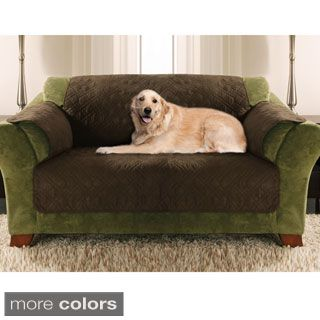 Leather Sleeper Sofa Yes Pets Quilted Furniture Protector Loveseat Pet Cover Brown