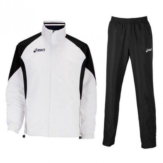 Asics Suit Europe melegítő fehér,fekete unisex HUN felirattal M