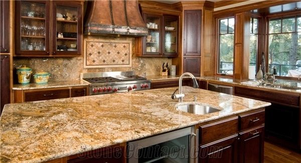 Juparana Persa Granite Kitchen Island Countertop